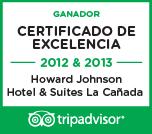 CERTIFICADO DE EXCELENCIA TRIPADVISOR - Howard Johnson | Hotel & Suites | La Cañanada - Córdoba